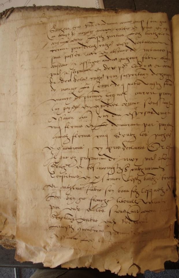 Contrat de mariage 1548