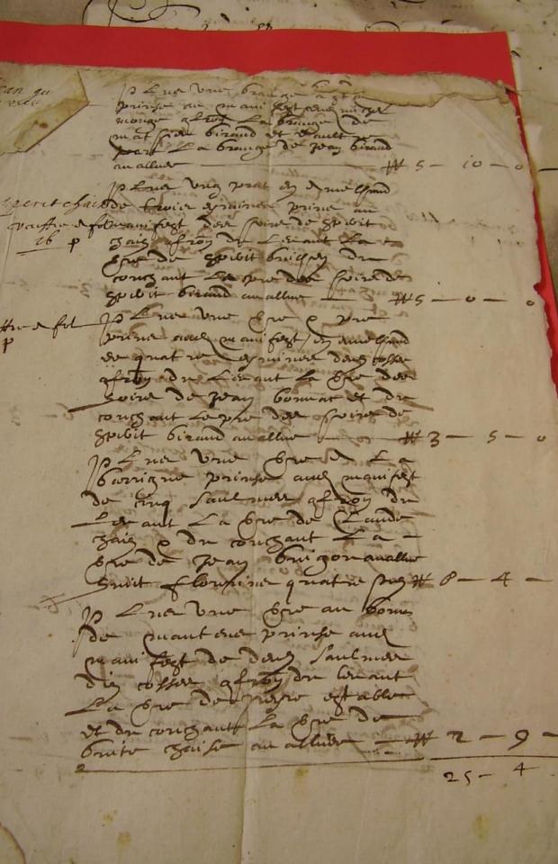 Compoix XVI° siècle